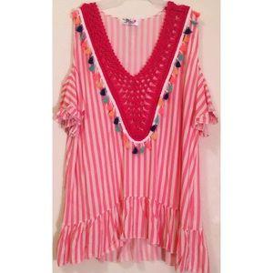 Women's Crochet Tassels Beach Dress Cover-Up